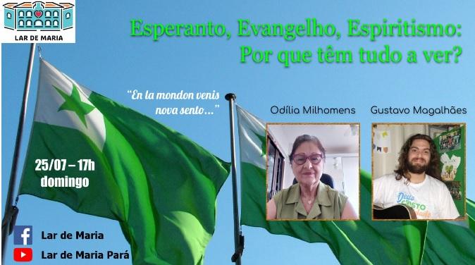 Live aborda relação do Esperanto, Evangelho e Espiritismo